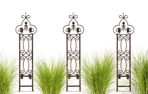 H Potter Wall Trellis Set Of 3 With Mounting Brackets Metal Garden Scroll For Your Deck, Patio, Balcony Poolside