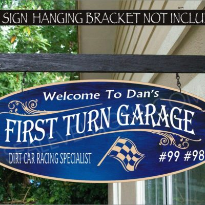 Checkered Flag Racing Driver Street Rodders Garage Speed Shop Man Cave Gift Family Name Custom Personalized Sign Auto 946