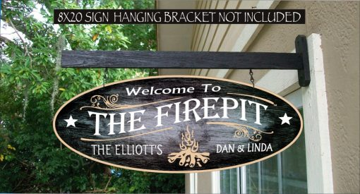 Camp Fire Camping Sign, Custom Campfire Firepit Gift Waterproof Painted Sign