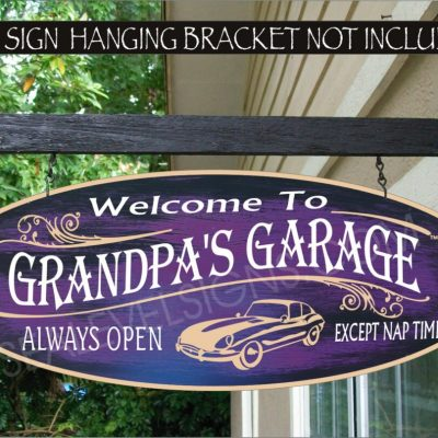 2019 Hot Rod Garage & Speed Shop Muscle Car Man Cave Gift Family Name Custom Personalized Sign Auto 934