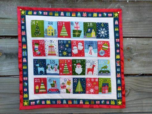 Advent Calendar Christmas Decoration Wallhanging, Fabric Calendar, Scandinavian
