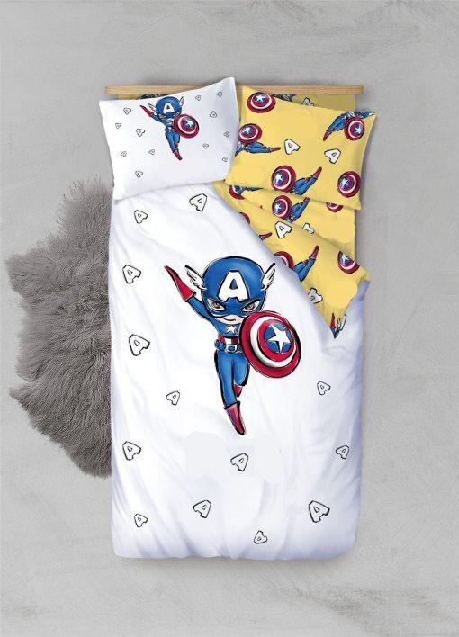 Avengers Duvet Cover Bedding Set Toddler Twin Kids Baby Boy