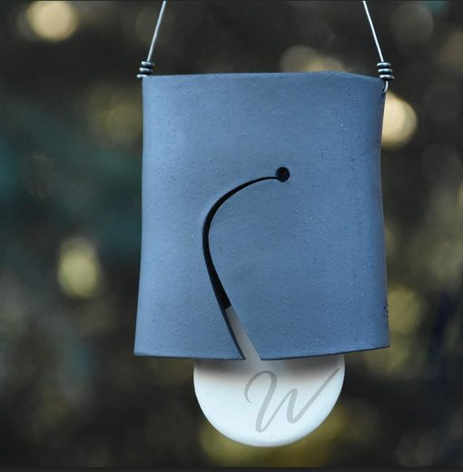 Personalized Black Wind Chime With Initials | Ceramic Bell Modern Home Decor