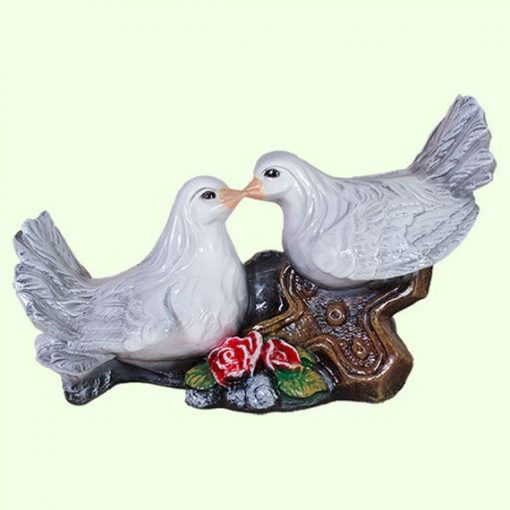 Memorial Doves Pair Bird Statue Pigeon Sculpture Yard Cemetery Figurine Outdoor Lawn Garden Decorations Grave Ornament Feng Shui Gifts