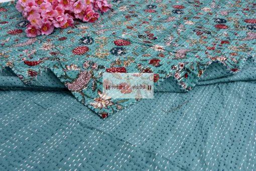 Handmade Vintage Kantha Quilt, Bohemian Quilt, Kantha Bedspread & Throw