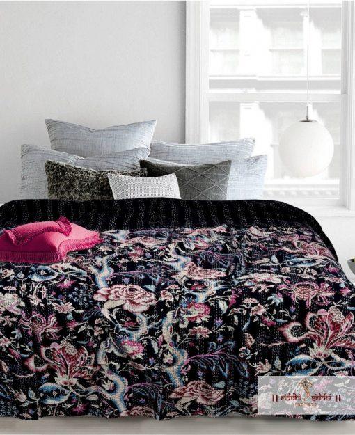 Kantha Quilt Handmade, Beautiful, Kantha Quilt