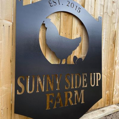 Chicken Farm Sign- Metal Sign - Personalized Coop Barn