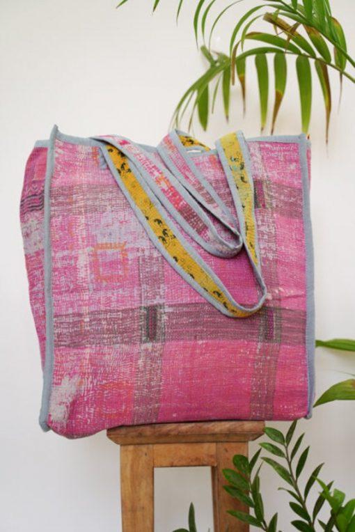 Premium Quality Ethnic Designer Handmade New Design Organic Cotton Bag Beautiful Arrivals Best 2021 Vintage Elegant Kantha Tote