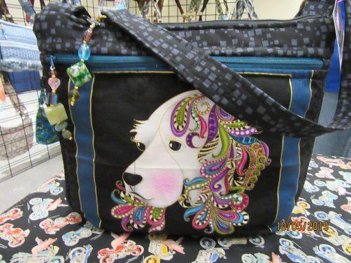 Dog Cross Body Fabric Purse 100% Handmade